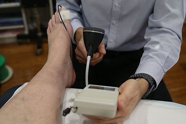 Systolic toe pressure test with Doppler PPG and toe cuff