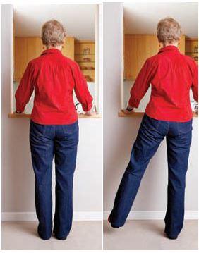 Side leg raises / sideways walking