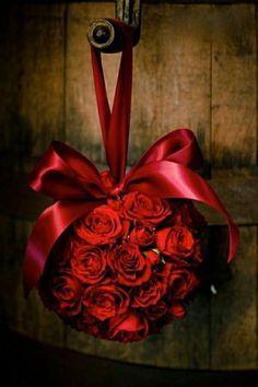 saint valentin - bouquet de roses - bouquet boule