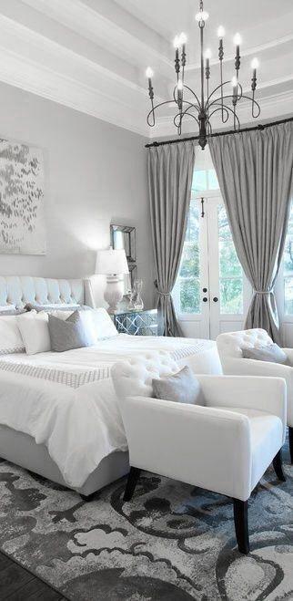 chambre chic - rideaux somptueux