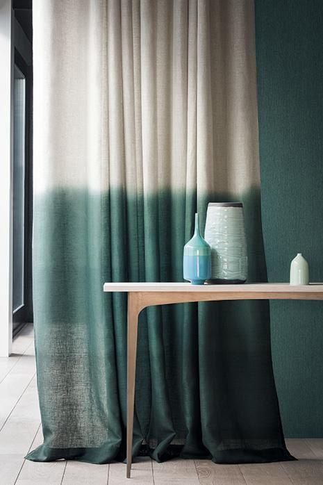 Tie-dye curtains, rideaux dégradé