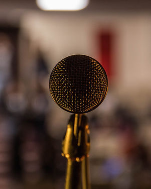 Close-up Image of Microphone