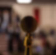 Imagem de close-up do microfone