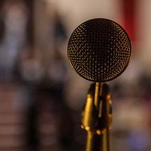 Nærbilde Bilde av mikrofon