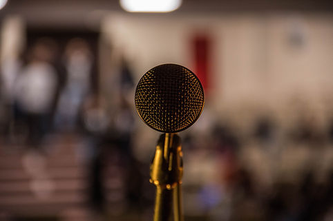 Nahaufnahme Bild von Mikrofon