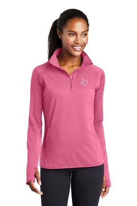 Ladies Stretch 1/2 Zip Pullover