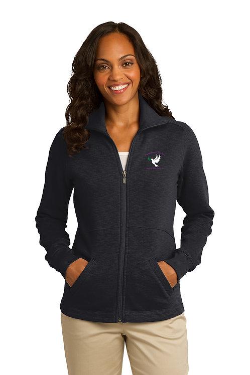 Ladies Slub Fleece Jacket