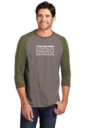 Hero Tri-Blend 3/4 Sleeve Raglan