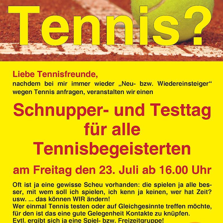 Schnupper- und Testtag für alle Tennisbegeisterten