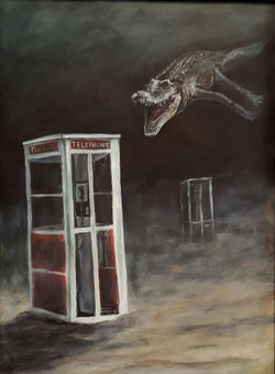 Nile Crocodile and Telephone Booth