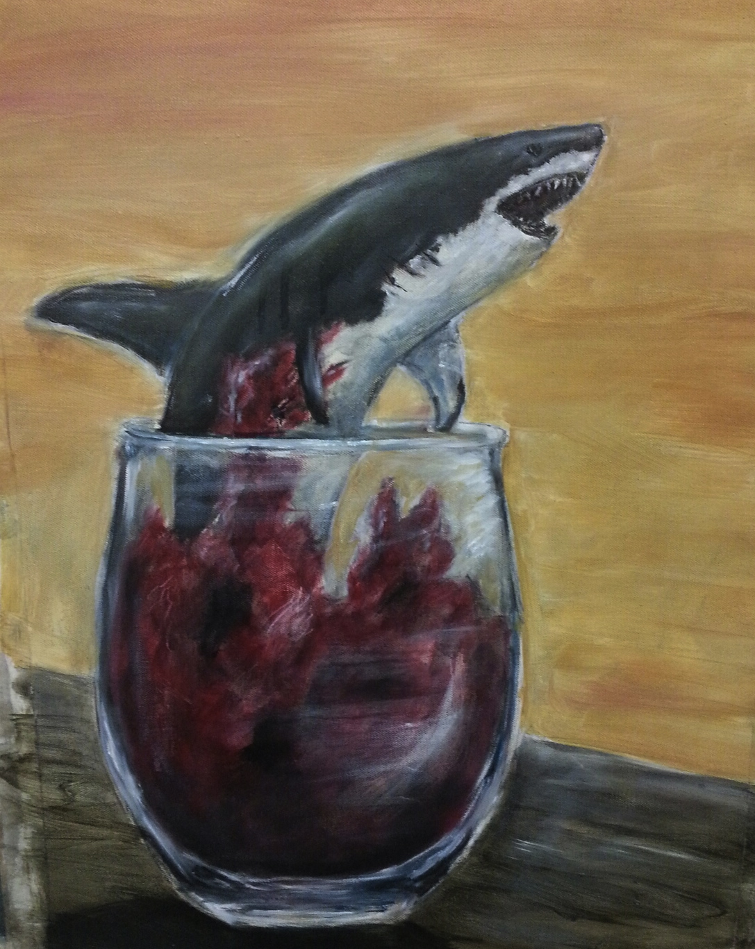 """Shark in Wine Glass"""