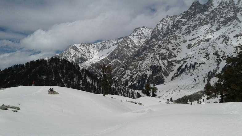 snowfall in  triund