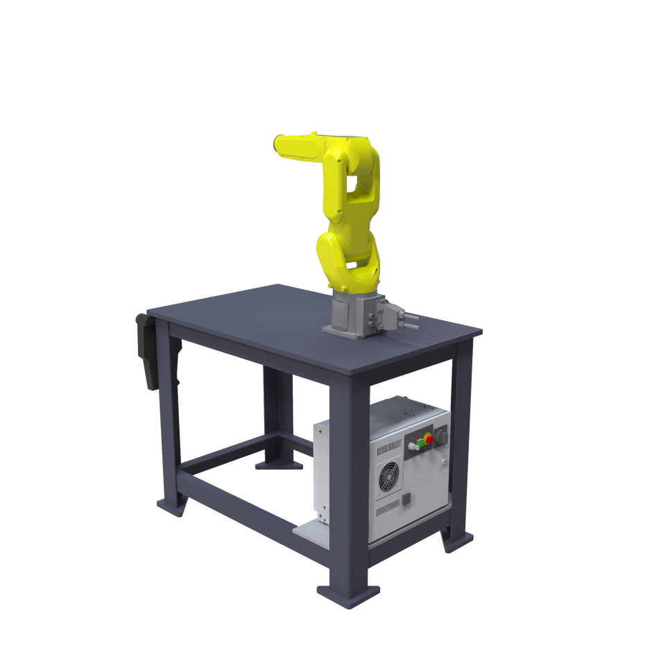 FANUC LR Mate 200iD Pre-Engineered Robotic Workcell - ISO right rear view