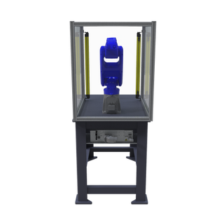 Motoman GP8 Robotic Workcell with optional guarding - rear view