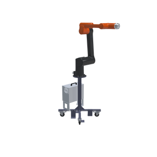 Hanwha HCR-12 Pre-Engineered Robotic Workcell - left view