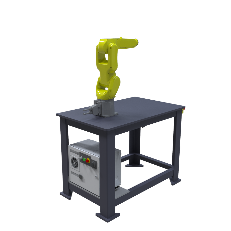 FANUC LR Mate 200iD Pre-Engineered Robotic Workcell - ISO left rear view