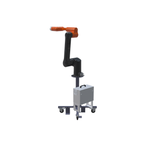 Hanwha HCR-12 Pre-Engineered Robotic Workcell - ISO right view