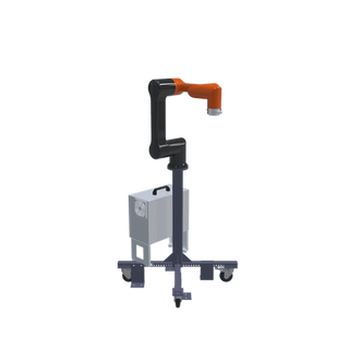 Hanwha HCR-5 Pre-Engineered Robotic Workcell - left view
