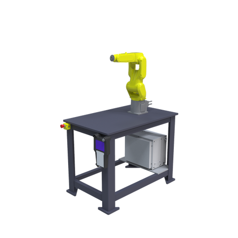 FANUC LR Mate 200iD Pre-Engineered Robotic Workcell - ISO right front view