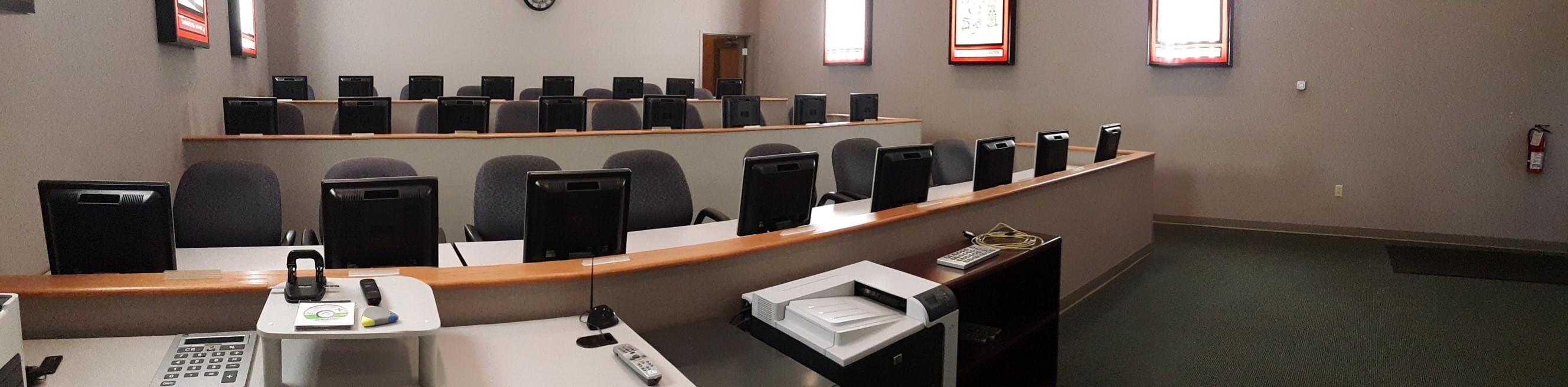 Training room at elliTek University