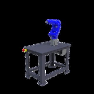 Yaskawa Motoman GP8 Robotic Workcell - isometric right front view
