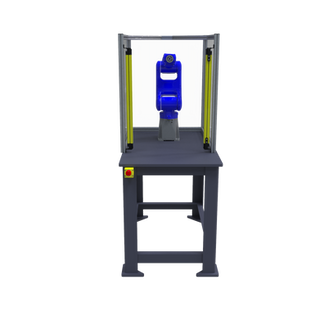 Motoman GP8 Robotic Workcell with optional guarding - front view
