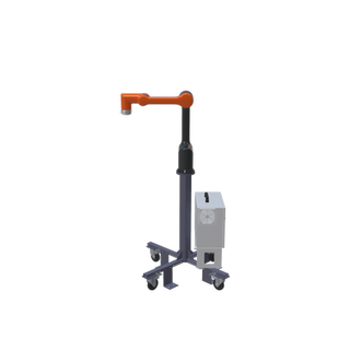 Hanwha HCR-5 Pre-Engineered Robotic Workcell - ISO right view extended