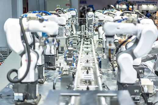 Industrial Robots on a production line