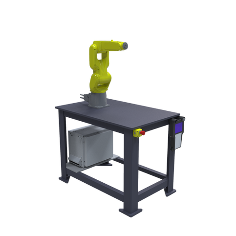 FANUC LR Mate 200iD Pre-Engineered Robotic Workcell - ISO left front view