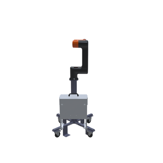 Hanwha HCR-5 Pre-Engineered Robotic Workcell - rear view