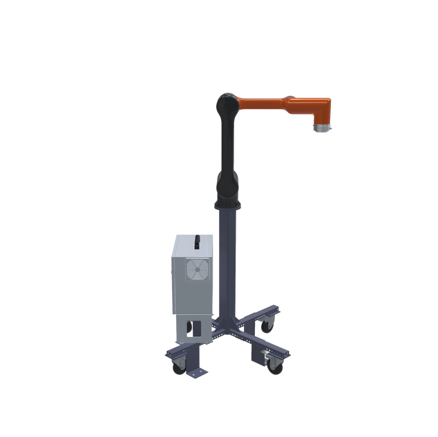 Hanwha HCR-5 Pre-Engineered Robotic Workcell - left view extended