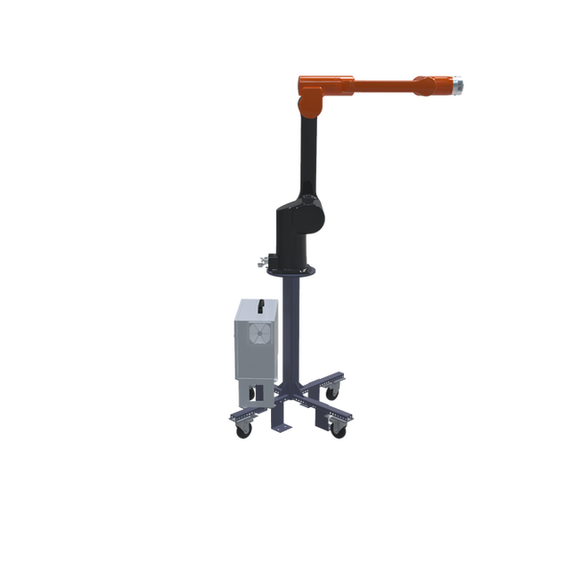 Hanwha HCR-12 Pre-Engineered Robotic Workcell - left extended view