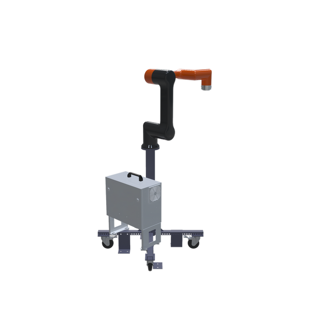 Hanwha HCR-5 Pre-Engineered Robotic Workcell - ISO left view