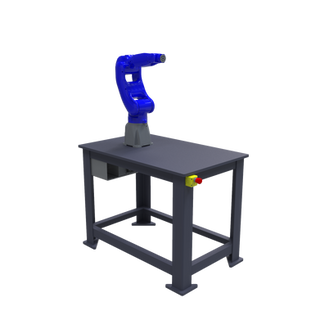 Yaskawa Motoman GP8 Robotic Workcell - isometric left front view