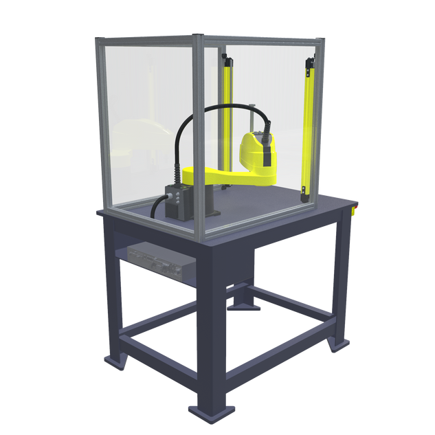 FANUC SR-6iA Pre-Engineered Robotic Workcell - ISO left rear view