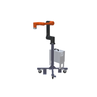 Hanwha HCR-5 Pre-Engineered Robotic Workcell - ISO right view