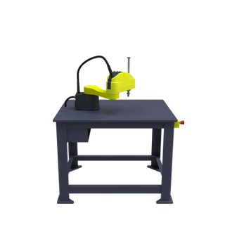 FANUC SR-6iA Pre-Engineered Robotic Workcell - left view