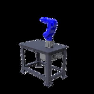 Yaskawa Motoman GP8 Robotic Workcell - isometric right view