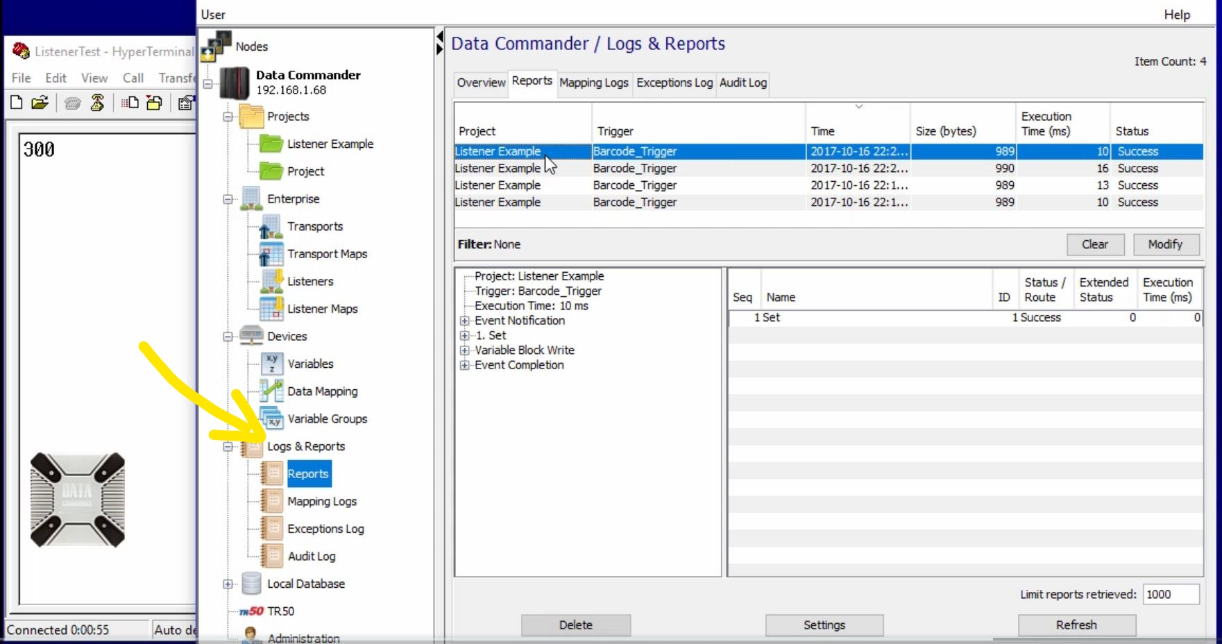 Data Commander's Logging capabilities