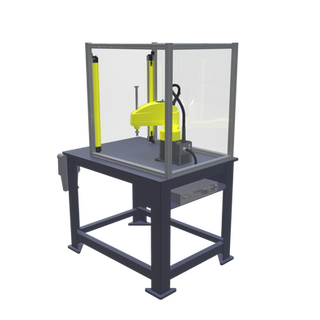 FANUC SR-6iA Pre-Engineered Robotic Workcell - ISO right rear view