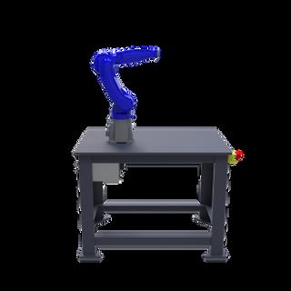 Yaskawa Motoman GP8 Robotic Workcell - left view
