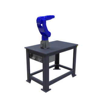 Yaskawa Motoman GP8 Robotic Workcell - isometric left view