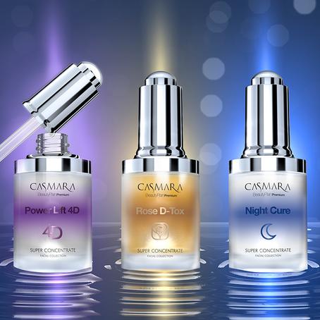 Super-Geconcentreerde serums voor een buitengewone schoonheidsbehandeling.