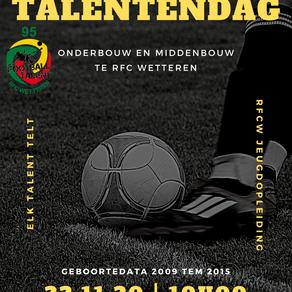 Open Talentendag 2020 op RFC Wetteren
