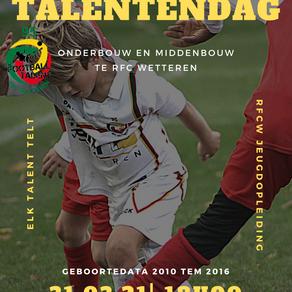 Open Talentendag 2021 op RFC Wetteren