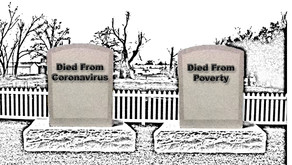 Death by Coronavirus or Death by Poverty?