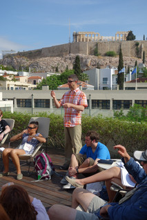 Discussing just government in Athens, Greece