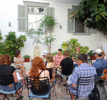 A discussion on Epicureanism on Hydra, Greece