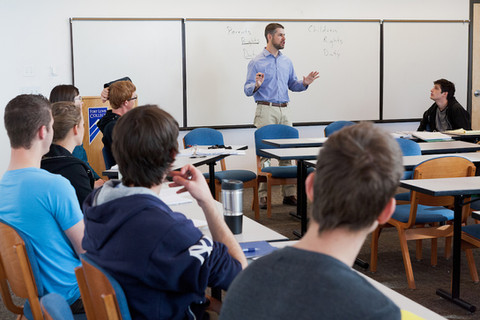 Justin McBrayer lectures at Fort Lewis College