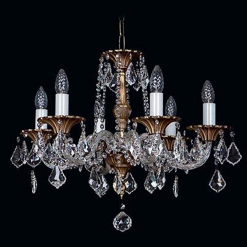 Gold brass chandelier L859/6/04
